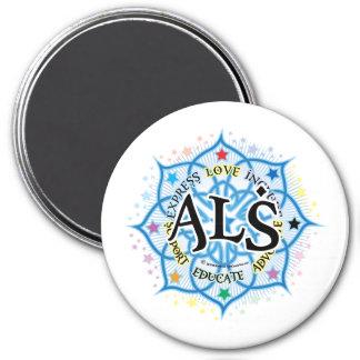 ALS Lotus 3 Inch Round Magnet