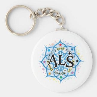 ALS Lotus Basic Round Button Keychain