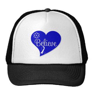 ALS Lou Gehrig Disease Believe Heart Trucker Hat