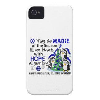 ALS Lou Gehrig's Disease de los pingüinos del iPhone 4 Case-Mate Coberturas