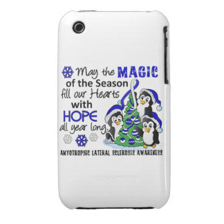 ALS Lou Gehrig's Disease de los pingüinos del Case-Mate iPhone 3 Carcasa