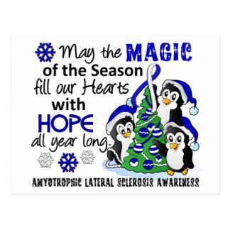 ALS Lou Gehrig's Disease de los pingüinos del navi Tarjetas Postales