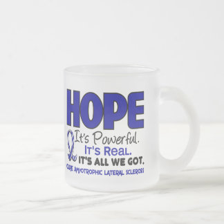 ALS Lou Gehrig's Disease HOPE 1 Frosted Glass Coffee Mug