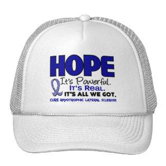 ALS Lou Gehrig's Disease HOPE 1 Trucker Hat