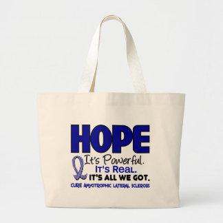 ALS Lou Gehrig's Disease HOPE 1 Large Tote Bag
