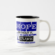ALS Lou Gehrig's Disease HOPE 2 Two-Tone Coffee Mug