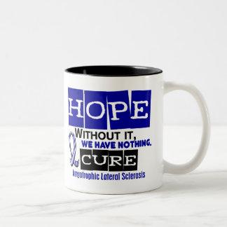 ALS Lou Gehrig's Disease HOPE 2 Two-Tone Coffee Mug