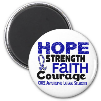 ALS Lou Gehrig's Disease HOPE 3 2 Inch Round Magnet