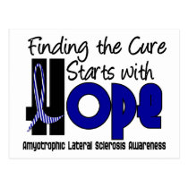 ALS Lou Gehrig's Disease HOPE 4 Postcard