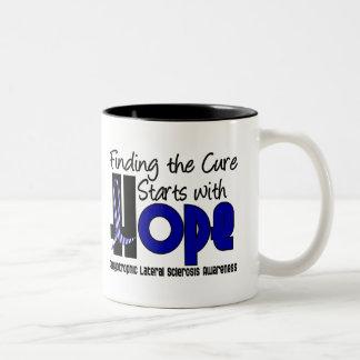 ALS Lou Gehrig's Disease HOPE 4 Two-Tone Coffee Mug