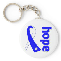 ALS Lou Gehrig's Disease HOPE Ribbon Keychain