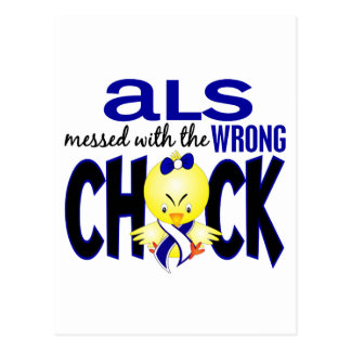 ALS Messed With The Wrong Chick Postcard