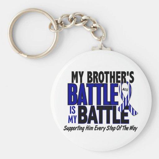 ALS mi batalla demasiado 1 Brother Llavero Redondo Tipo Pin