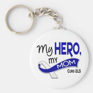 ALS mi mamá mi héroe 42 Llaveros Personalizados