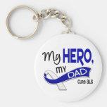 ALS mi papá mi héroe 42 Llavero Personalizado