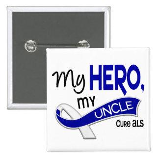 ALS mi tío My Hero 42 Pin Cuadrado