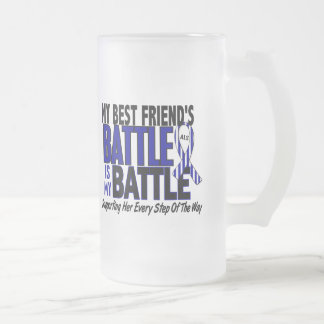 ALS My Battle Too 1 Best Friend (Female) 16 Oz Frosted Glass Beer Mug