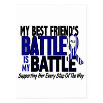ALS My Battle Too 1 Best Friend (Female) Postcard