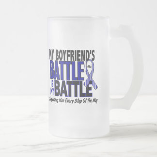 ALS My Battle Too 1 Boyfriend 16 Oz Frosted Glass Beer Mug