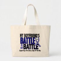 ALS My Battle Too 1 Boyfriend Large Tote Bag