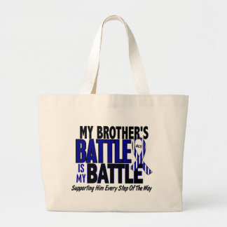 ALS My Battle Too 1 Brother Large Tote Bag