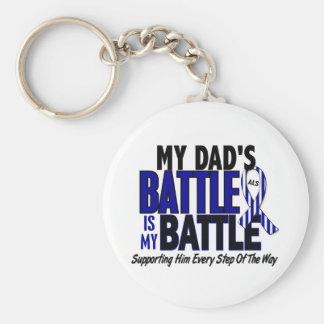 ALS My Battle Too 1 Dad Basic Round Button Keychain