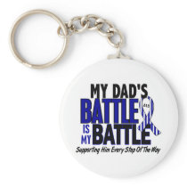 ALS My Battle Too 1 Dad Keychain