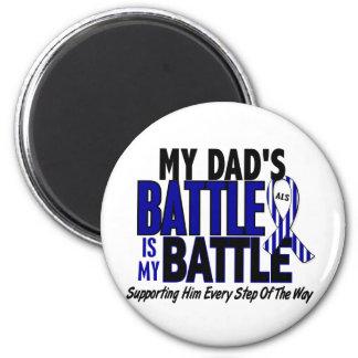 ALS My Battle Too 1 Dad 2 Inch Round Magnet