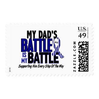 ALS My Battle Too 1 Dad Postage Stamp