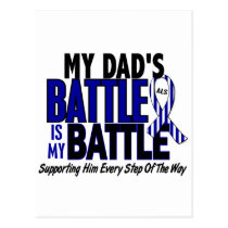 ALS My Battle Too 1 Dad Postcard