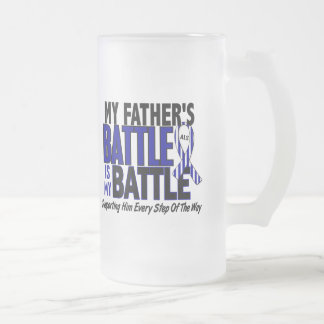 ALS My Battle Too 1 Father 16 Oz Frosted Glass Beer Mug