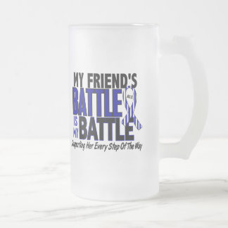 ALS My Battle Too 1 Friend (Female) 16 Oz Frosted Glass Beer Mug