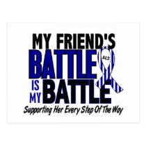 ALS My Battle Too 1 Friend (Female) Postcard