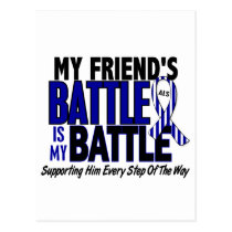 ALS My Battle Too 1 Friend (Male) Postcard
