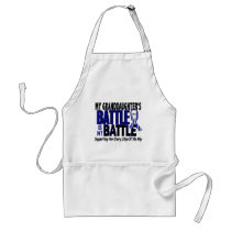 ALS My Battle Too 1 Granddaughter Adult Apron