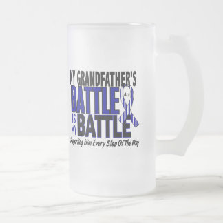 ALS My Battle Too 1 Grandfather 16 Oz Frosted Glass Beer Mug