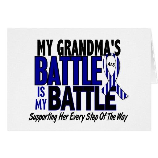 ALS My Battle Too 1 Grandma Card