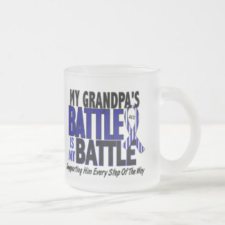 ALS My Battle Too 1 Grandpa 10 Oz Frosted Glass Coffee Mug