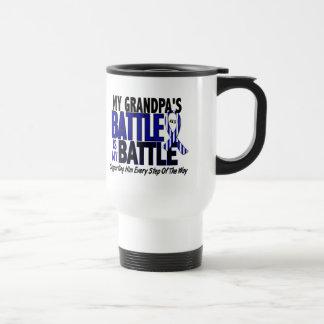 ALS My Battle Too 1 Grandpa 15 Oz Stainless Steel Travel Mug