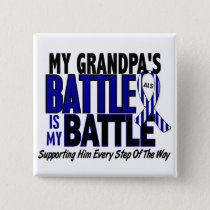 ALS My Battle Too 1 Grandpa Pinback Button