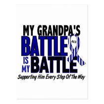 ALS My Battle Too 1 Grandpa Postcard