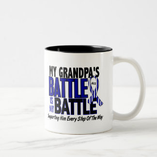 ALS My Battle Too 1 Grandpa Two-Tone Coffee Mug