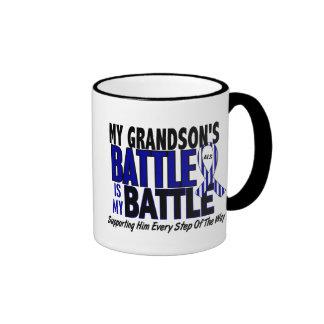 ALS My Battle Too 1 Grandson Ringer Coffee Mug