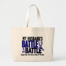 ALS My Battle Too 1 Husband Large Tote Bag
