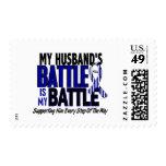 ALS My Battle Too 1 Husband Postage Stamps