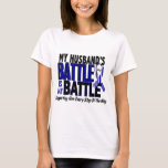 ALS My Battle Too 1 Husband T-Shirt
