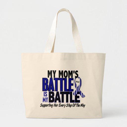 ALS My Battle Too 1 Mom Canvas Bag