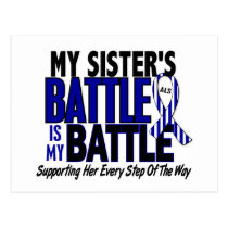 ALS My Battle Too 1 Sister Postcard