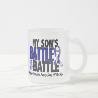 ALS My Battle Too 1 Son 10 Oz Frosted Glass Coffee Mug