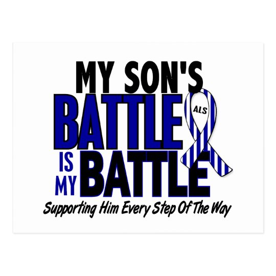 ALS My Battle Too 1 Son Postcard